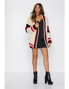 Lay Your Cards On The Cable Knit Cardigan by Nasty Gal