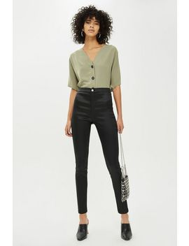 Tall Black Satin Finish Jamie Jeans by Topshop
