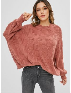 Lantern Sleeve Loose Fitting Sweater   Bean Red by Zaful
