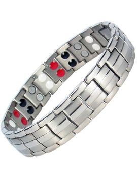 Mens Titanium Magnetic Bracelet   Arthritis Pain Relief Energy ~All Sizes~   St4 by Ebay Seller