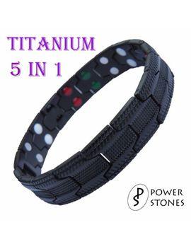 Мужские титана супер сильные магнитные терапии браслет Bio 5 в 1 артрит 033 B by Ebay Seller