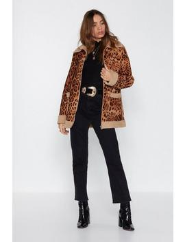 Let's Roll Leopard Jacket by Nasty Gal