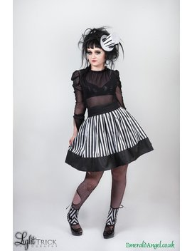 Stripes Skater Skirt, Gothic, Beetlejuice, Custom Size. by Etsy