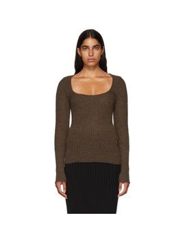 Brown 'la Maille Dao' Sweater by Jacquemus