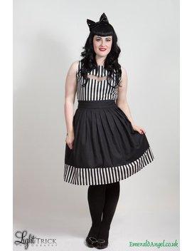 Gothic Stripes & Bat Dress, Beetlejuice Inspired. Custom Size. by Etsy