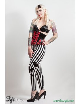 Stripes & Pvc Bats Leggings, Gothic, Psychobilly, Custom Size. by Etsy