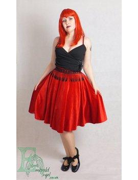 Velvet & Lace Circle Skirt, Custom Size, Many Colors. by Etsy