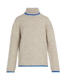 Speckled Cashmere Sweater by Deveaux