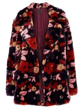Printed Faux Fur Jacket by Anna Sui