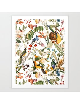 Floral And Birds Xxxii Art Print by