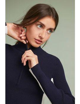 Varsity Half Zip Pullover by Moth