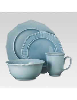 Wellsbridge 16pc Dinnerware Set Aqua   Threshold™ by Shop This Collection