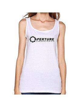 Zhao Hui Cheap Fashion Woman's O Neck Aperture Labs Logo Tank Top T Shirt by Zhao Hui