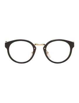 Black & Gold Panama Glasses by Super