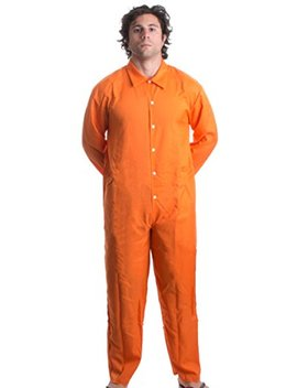 Ann Arbor T Shirt Co. Prisoner Jumpsuit | Orange Prison Inmate Halloween Costume Unisex Jail Criminal by Ann+Arbor+T Shirt+Co.