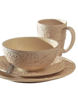 American Atelier Bianca 16pc Dinnerware Set Cream by American Atelier