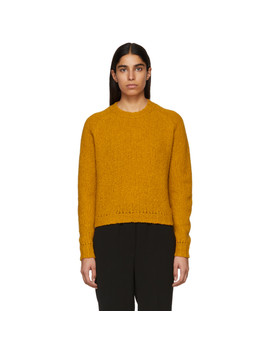 Orange Wool Sweater by Bottega Veneta