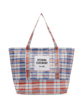 White & Red Medium Chinatown Tote by Opening Ceremony