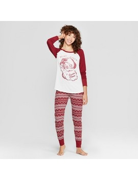Weekend Soul Women's Holiday Super Soft Santa Pajama Set   Red by Weekend Soul