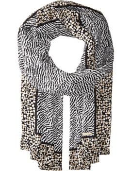 Reptile Print Oblong Scarf by Michael Michael Kors
