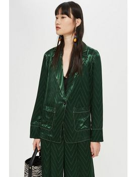 chevron-contrast-stitch-suit by topshop