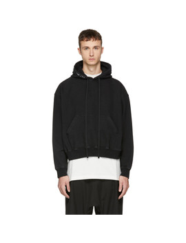 Black Oversized Hoodie by Unravel