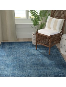 Rosecliff Heights Funk Contempo Soho Wool Blue Area Rug by Rosecliff Heights