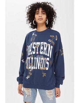 'illinois' Embellished Sweatshirt by Topshop
