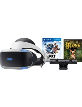 Play Station Vr Astro Bot Rescue Mission And Moss Bundle   Black/Blue by Sony
