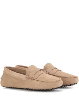 Loafers Gommino Aus Veloursleder by Tod's