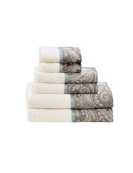 6pc Charlotte Jacquard Towel Set by Shop This Collection