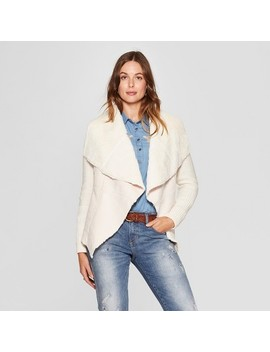 Women's Open Layering Sherpa Sweater   Knox Rose™ Ivory by Knox Rose