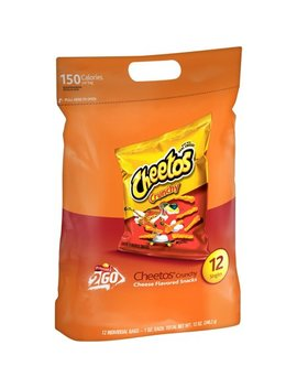 (2 Pack) Cheetos Crunchy Singles Cheese Flavored Snacks 12 1 Oz. Bags by Puffed Snacks
