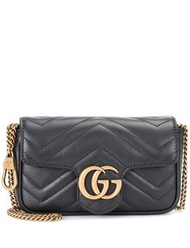 Borsa A Tracolla Gg Marmont Mini In Pelle by Gucci