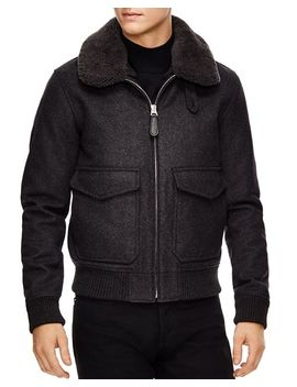 Aviator Gray Bomber Jacket by Sandro