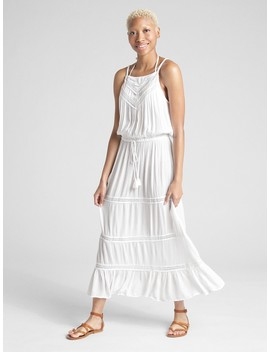 Tiered Lace Trim Maxi Dress Cover Up by Gap
