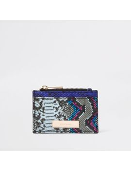 Bright Red Croc Card Holder by River Island