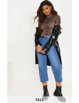 Tall Roll Neck Leopard Bodysuit by Prettylittlething