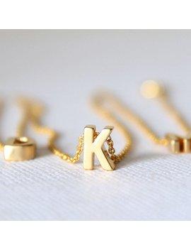 Buchstaben Initial Kette   Individueller Schmuck   Letter Necklace by Etsy