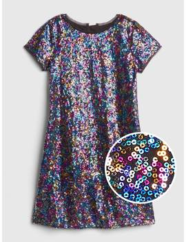Short Sleeve Sequin Dress by Gap