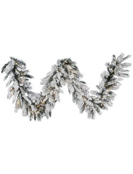 "Vickerman 9' X 16"" Snow Ridge Garland Dura Lit 100 Cl by Vickerman"