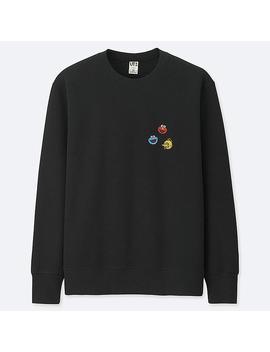 Herren Bedrucktes Sweatshirt Kaws X Sesamstrasse by Uniqlo