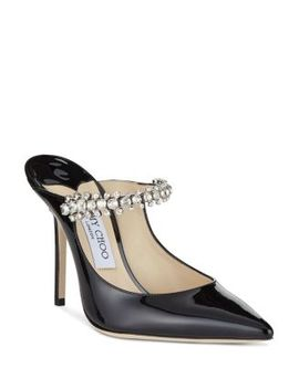 Women's Pat 100 Crystal Embellished High Heel Mules by Jimmy Choo