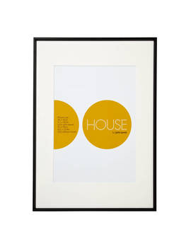 House By John Lewis Aluminium Photo Frame, A2 With A3 Mount, Black by House By John Lewis