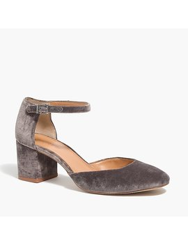 Mary Jane Pumps In Velvet by J.Crew