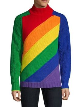 Rainbow Wool & Cashmere Sweater by Burberry