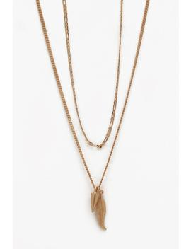Double Layer Chain Necklace by Boohoo