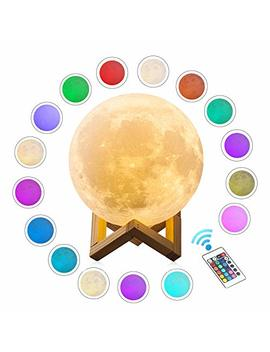 Extra Large!!! Cpla Seamless Moon Lamp 16 Colors Led Lunar Lamp Dimmable Brightness With Remote & Touch Control Large Moon Light Gifts For Love Dimeter 7.1inch by Cpla