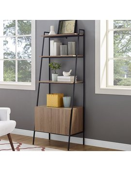 Williston Forge Caldwell Metal And Wood Ladder Bookcase & Reviews by Williston Forge