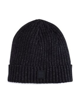 Araffeno Ribbed Beanie by Boss Hugo Boss